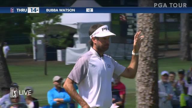 Bubba Watson cards 22-foot birdie putt at Valspar