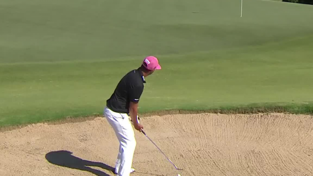 Scott Piercy's clutch bunker shot sets up 4-foot birdie at AT&T Byron Nelson