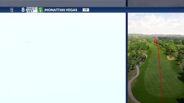 Jhonattan Vegas' shot off cart path leads to bogey at Valero