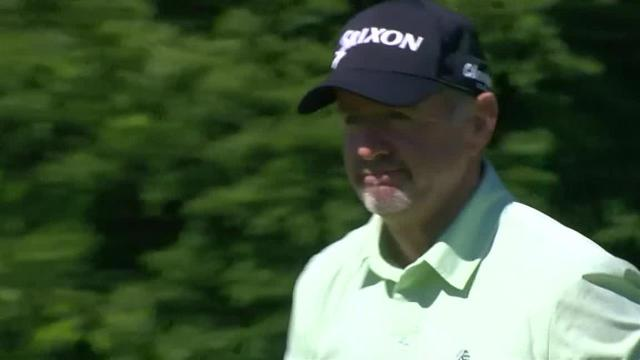 Rod Pampling chips it tight to set up birdie at RBC Canadian