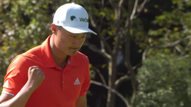 Haotong Li's clutch putt to save par at WGC-HSBC Champions