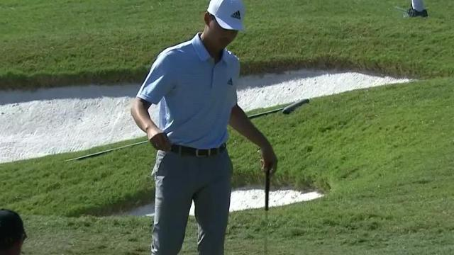 Brandon Wu drains 12-footer for birdie at Houston Open