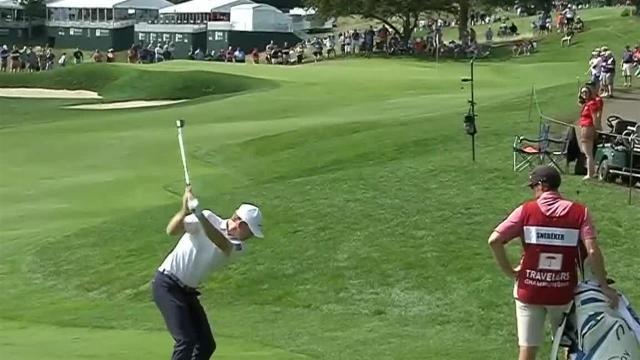Brandt Snedeker nearly holes out at Travelers