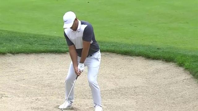 Brooks Koepka's hole-out bunker shot at Travelers