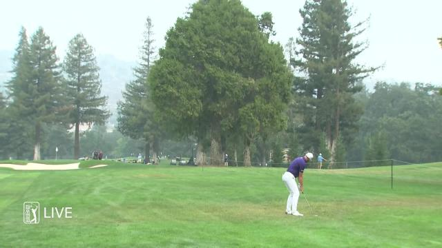 Kevin Tway sticks approach to set up birdie at Safeway Open