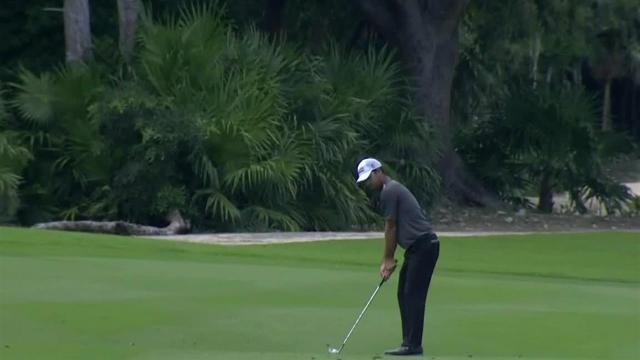 Robert Streb's clutch eagle approach on No. 1 at Mayakoba